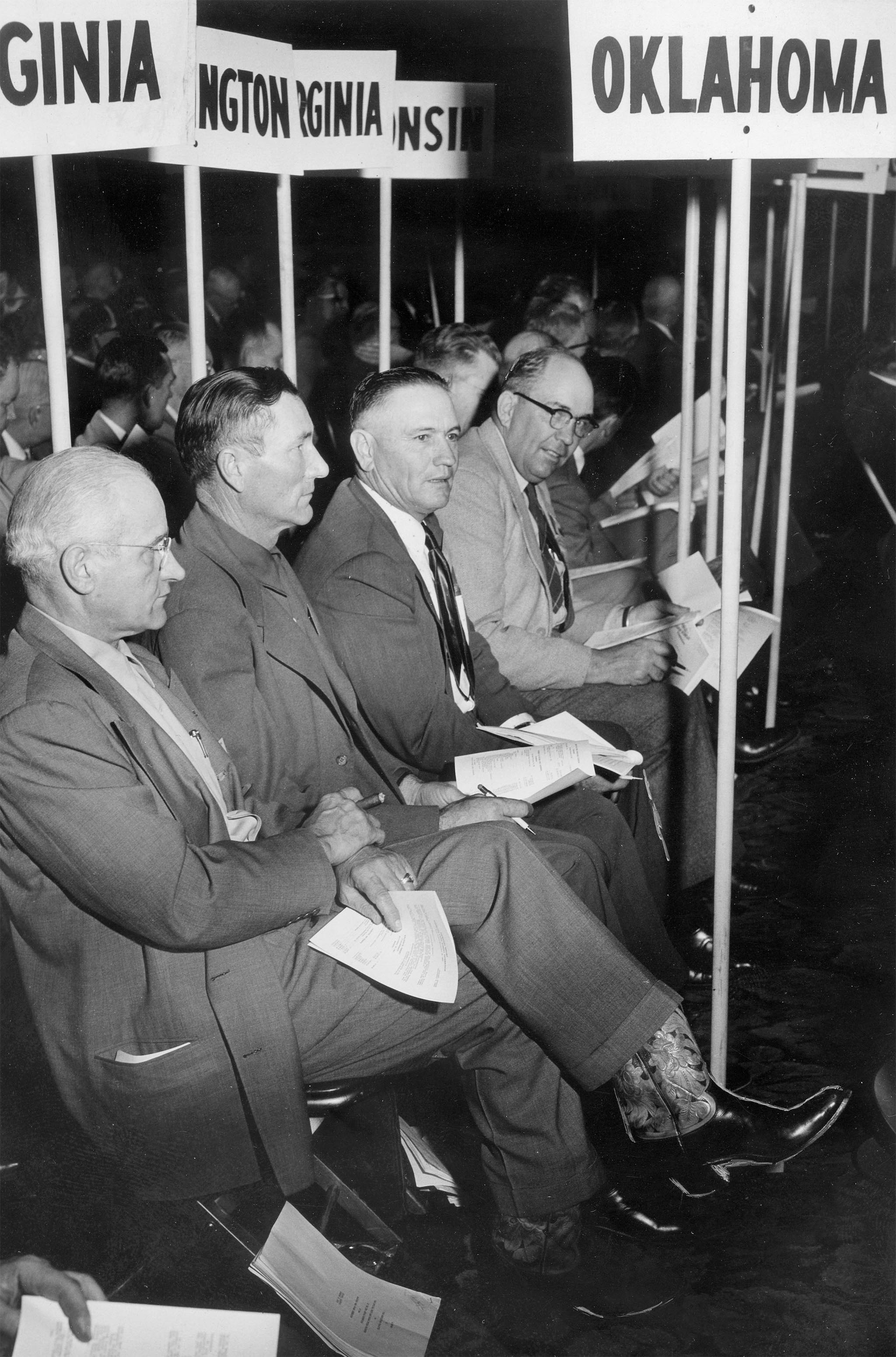 Oklahoma delegates at the 1953 American Farm Bureau Federation's Convention