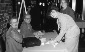 Oklahoma Farm Bureau Women's Committee events, like this one held in 1980, allowed members to develop leadership skills, meet agricultural women from across the state and learn the latest farming and ranching news.