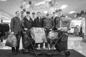 The Oklahoma State University Collegiate Farm Bureau group supported fellow Oklahomans in 2015 by shopping for toys and gift items for children in need through the Salvation Army Angel Tree program and the White Fields Boys Home.