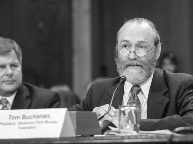 Oklahoma Farm Bureau President Tom Buchanan testifies before the U.S. Senate Environment and Public Works Subcommittee on Superfund, Waste Management and Regulatory Oversight on April 12, 2016, about the proposed Waters of the United States rules change to the Clean Water Act.