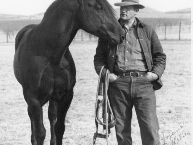 John I. Taylor on his Comanche County ranch