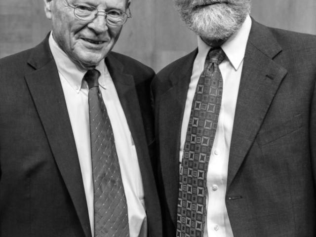 OKFB President Tom Buchanan (right) with U.S. Senator Jim Inhofe.
