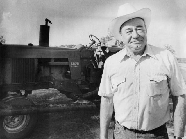 OKFB President Bill Jarvis on his farm.