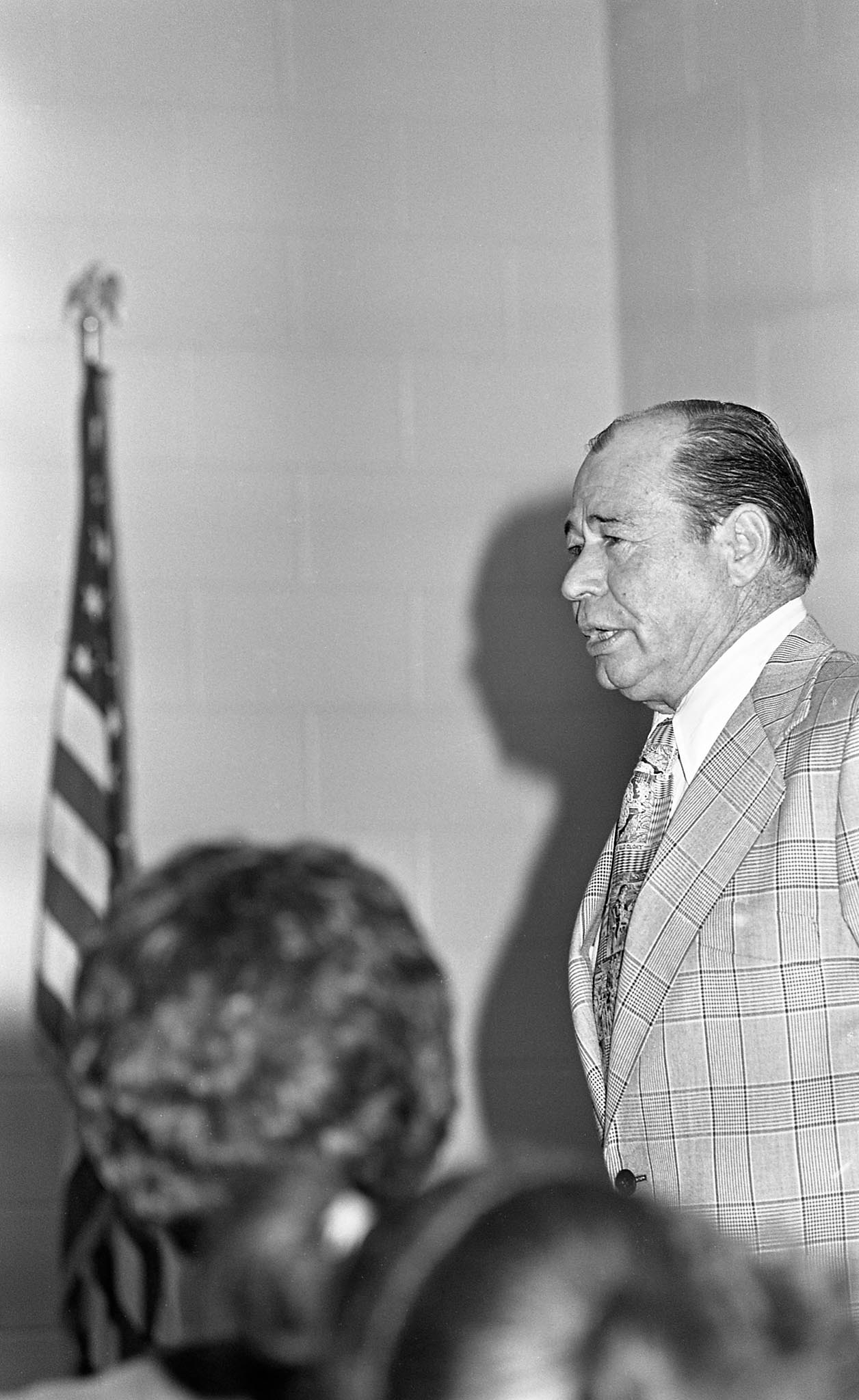 OKFB President Billy Jarvis at the Seminole County Citizenship Seminar in 1976.