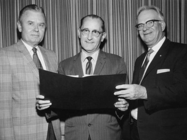 OKFB President Lewis Munn in 1969.