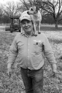 OKFB President Mike Spradling on his farm.